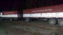 atraparon a camioneros contrabandeando maiz y soja a la zona