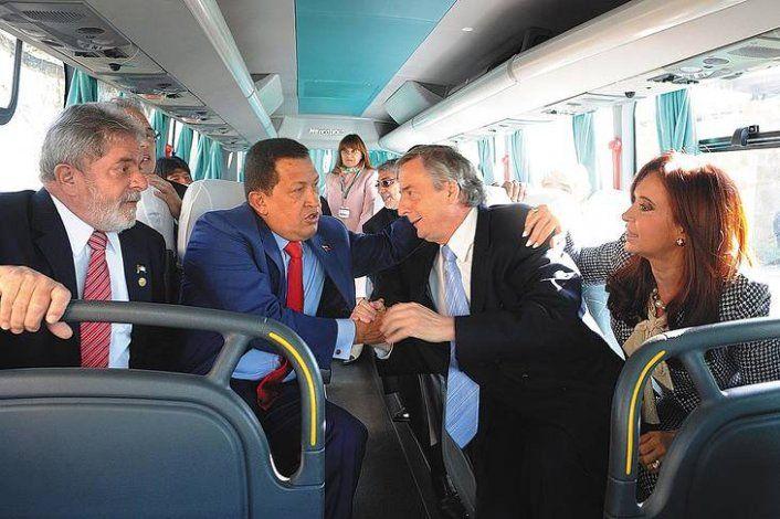 Lula, Hugo Chavez, Nestor Kirchner y Cristina Fernández.