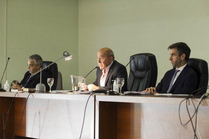 Alejandro Silva, Alejandro Cabral y Simón Bracco, los jueces del Tribunal Oral Federal 1 de Neuquén.