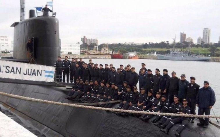 El submarinoa ARA San Juan y los 44 tripulantes.