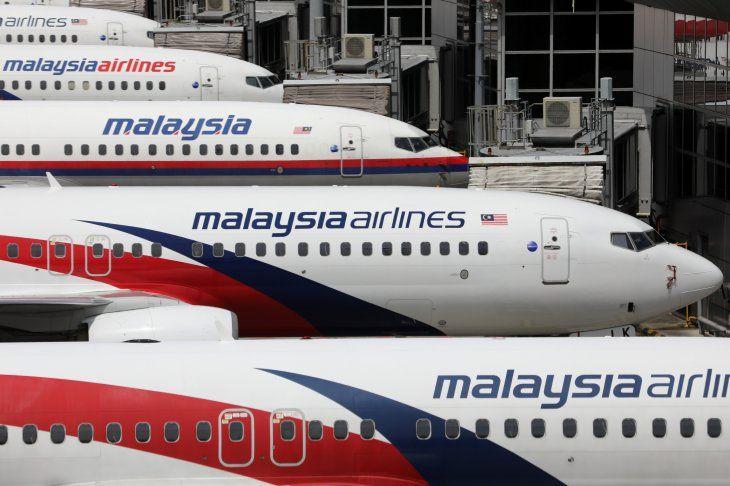 Aviones de Malaysia Airlines estacionados en el Aeropuerto Internacional de Kuala Lumpur