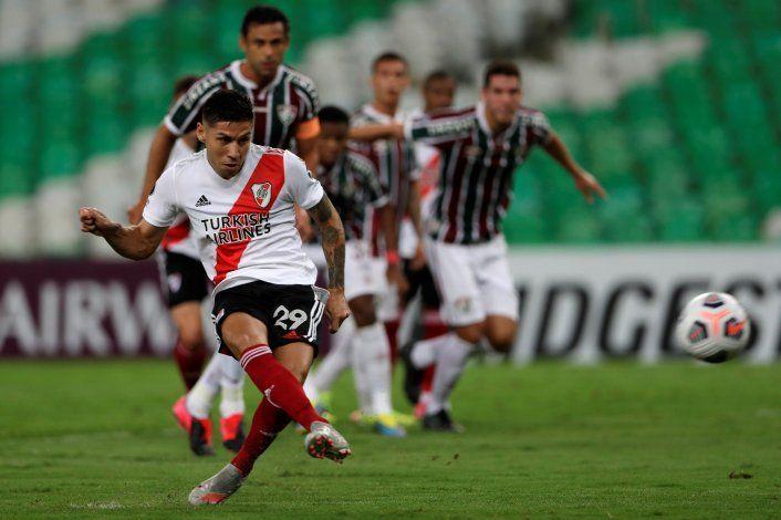 Quinto gol de Gonzalo Montiel con la camiseta de River (4 fueron de penal).