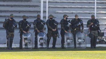 En La Visera se convocaron a más efectivos por un tema de seguridad.