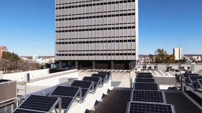 Parte del BPN se alimenta de energía solar.