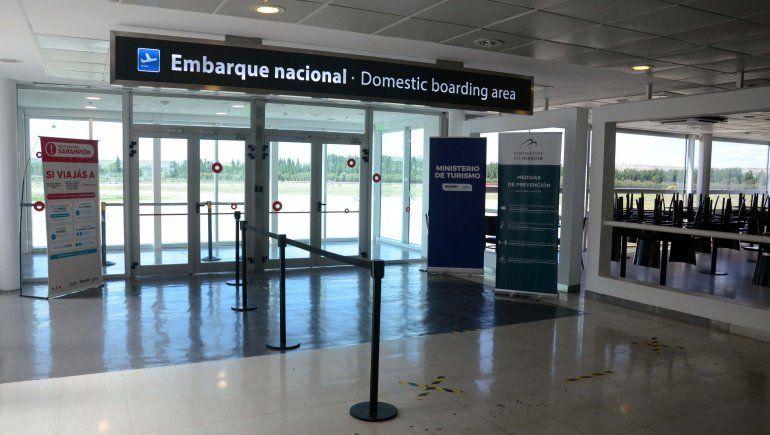 El aeropuerto de Neuquén registra un 5% de los vuelos prepandemia.