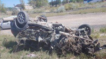 Ruta 7: cuatro vehículos involucrados en un tremendo accidente