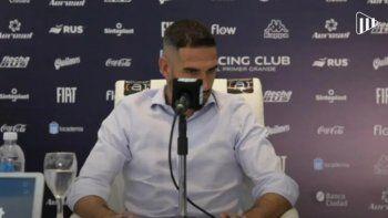 La emoción de López en la conferencia.