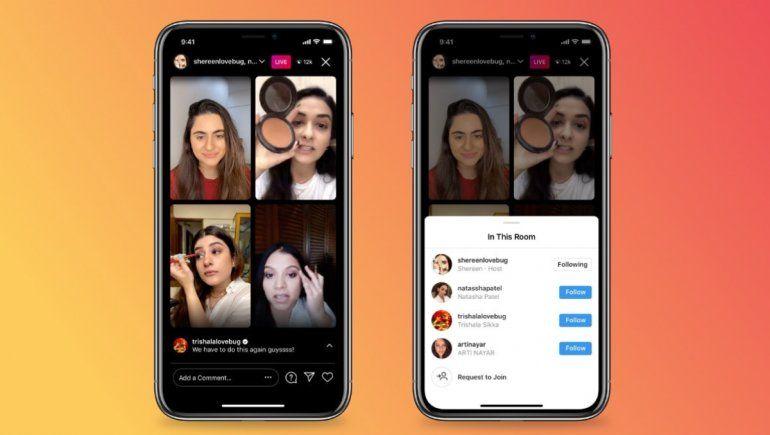 Instagram aumenta anfitriones de tranmisiones en vivo con Live Rooms
