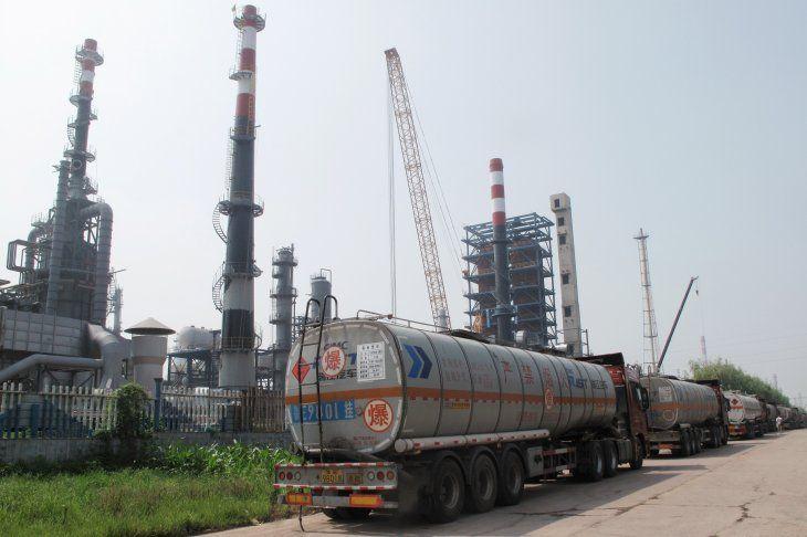 Imagen de archivo de una refinería del Shandong Haiyou Petrochemical Group en el condado de Ju