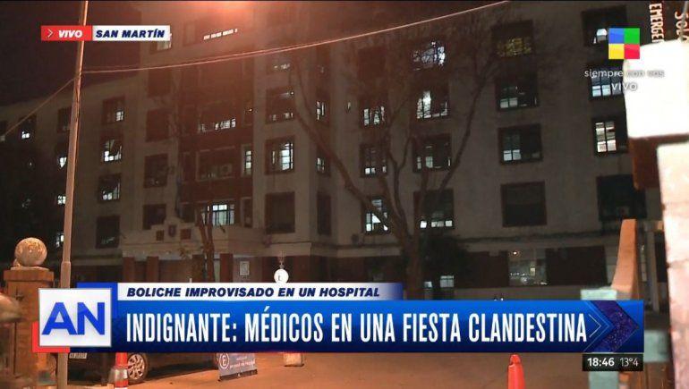Médicos y enfermeros hicieron una fiesta clandestina en un hospital
