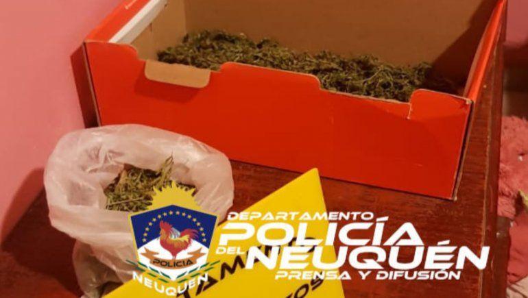 En los allanamientos la Policía secuestró un arma de fuego y una importante cantidad de marihuana.