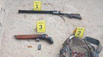 La Policía secuestró armas en un allanamiento realizado en una vivienda, a raíz del brutal ataque.