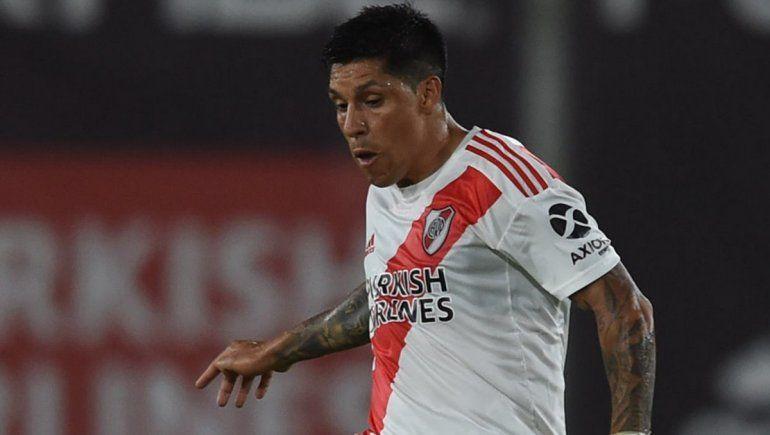 River tiene 7 bajas y Gallardo probó con Enzo Pérez de dos