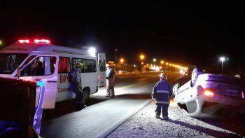 Cipoleño se salvó de milagro tras volcar sobre la Ruta 151