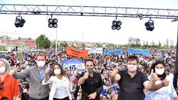Actos, presencias nacionales y visita a los barrios en el cierre de campaña de la ciudad
