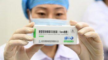 Llegarán un millón de vacunas de Sinopharm y serán dadas como segunda dosis