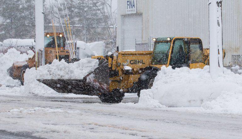Tormentas de nieve en Estados Unidos.