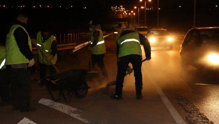 Operativo de limpieza: retiraron residuos de la Avenida Alfonsín