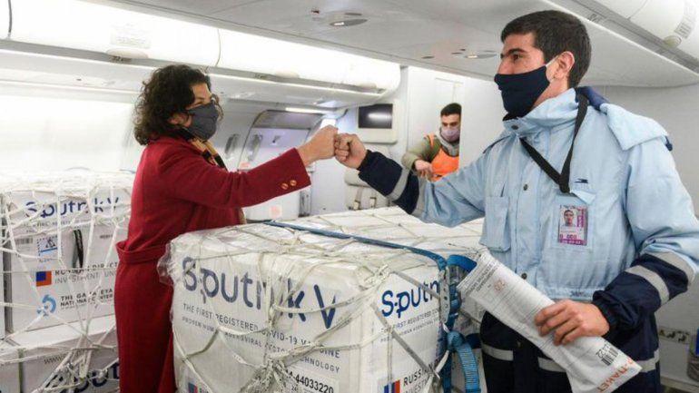 Llegaron más dosis de Sputnik V y Argentina ya tiene 18.450.140 vacunas