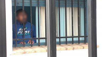 violador zapalino atrincherado: no vine a negociar, de aca no sale nadie