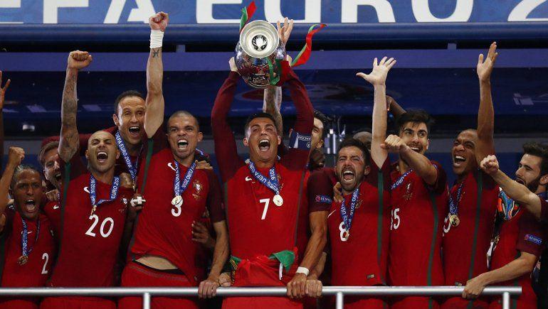 Cristiano Ronaldo y Portugal buscarán defender el título obtenido en 2016 en Francia.