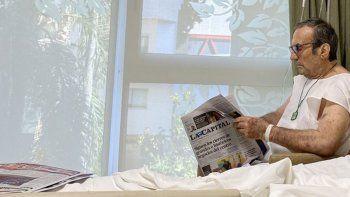 Carlos Alberto Reutemann salió de Terapia Intensiva y seguirá internado en una sala común