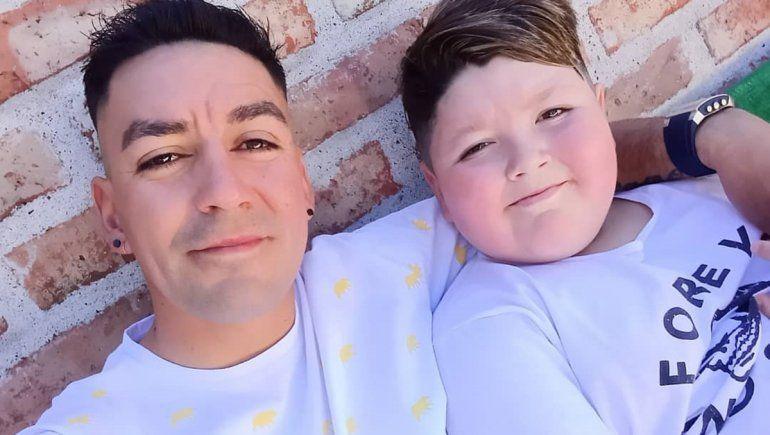 Thiago junto a su papá Alesio.