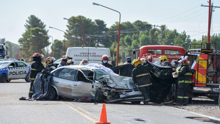 El trágico choque tuvo lugar en la Ruta 7, a la altura de San Patricio del Chañar.