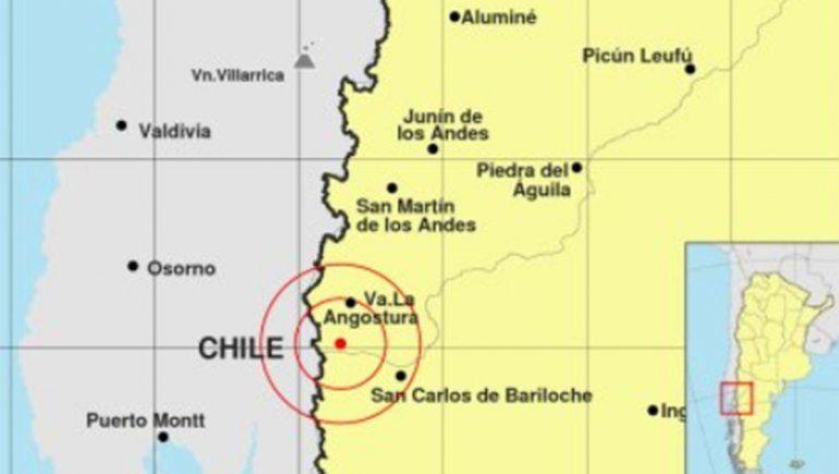 Registran un sismo cerca de Villa La Angostura