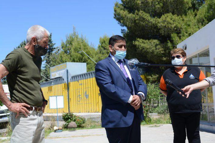 José Rioseco con Robreto Figueroa, del Observatorio de Neuquén, coordinando detalles para ver el eclipse.