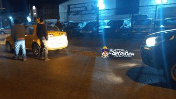 Destrozó un taxi en el San Lorenzo y lo mandaron al hospital
