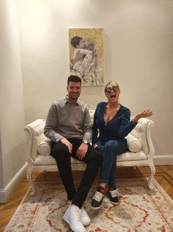 El cuadro del neuquino en la casa de Vicky Xipolitakis.