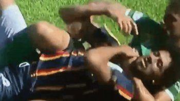 Así comenzó la batalla campal por una acción digna de MMA.