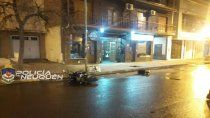 motociclista derrapo y murio al caer de su moto en pleno centro