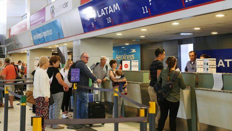 Aumentó 6,7% el flujo de pasajeros en el aeropuerto