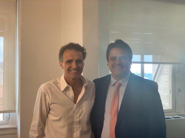 Mariano Gaido se reunió en Capital Federal con el ministro de Obras Públicas.