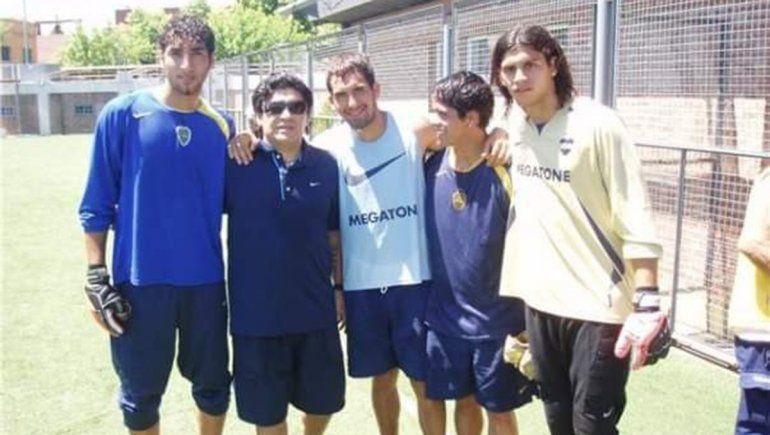Criado con Maradona cuando atajaba en Boca.