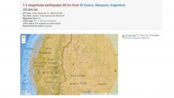 Neuquén tuvo su peor terremoto hace un siglo