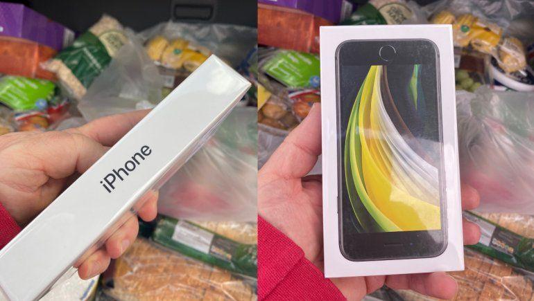 Viral en Twitter: hombre pidió manzanas y recibió un iPhone nuevo