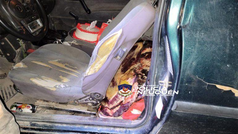 Cumpleaños arruinado: secuestran 50 kilos de carne, pero la torta se salvó