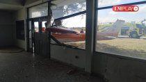 el momento del accidente del cessna en el aeroclub de neuquen