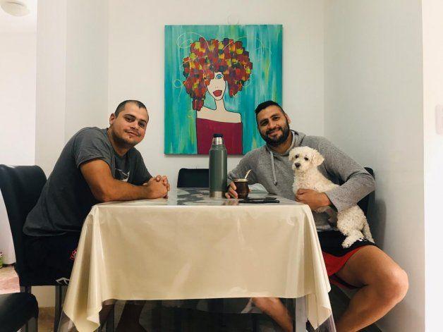 Piñero Da Silva junto a su hermano Carlos