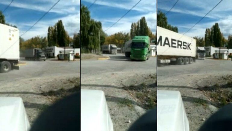 Video: así los camiones internacionales esquivan los cortes
