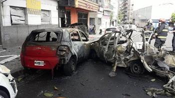 Explotó el tubo de GNC de un taxi y de milagro no hubo víctimas