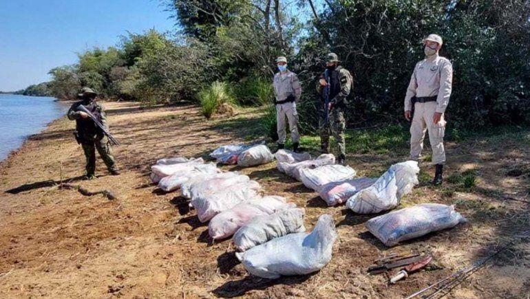 Detienen una lancha que transportaba 700 kilos de carpinchos