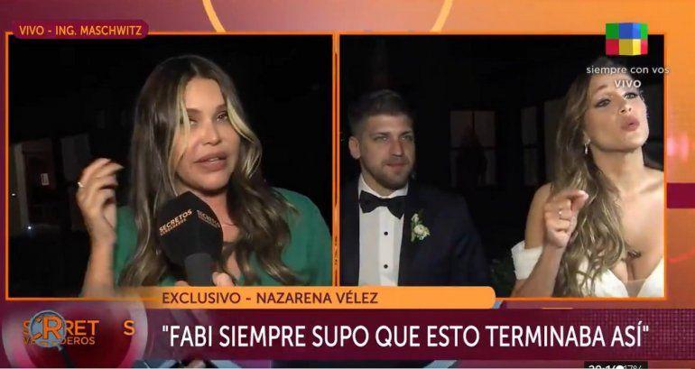 Nazarena Vélez sobre la boda de Barbie: No paro de llorar
