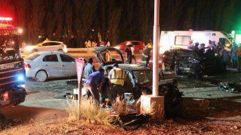 Centenario: choque múltiple dejó cuatro heridos de gravedad