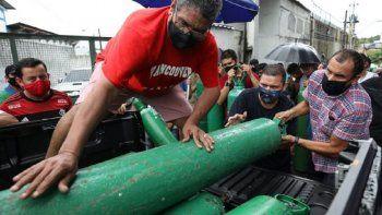 Agudiza la crisis en Manaos: centros médicos sin tanques de oxígeno