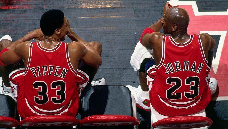 La dupla conformada por Michael Jordan y Scottie Pippen es considerada como una de las mejores de la historia de la NBA.