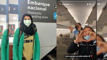 la atleta cipolena ya viaja al sudamericano en el avion de maratea